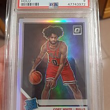 2019-20 Prizm Optic Coby White Chicago Bulls HOLO SILVER PSA9