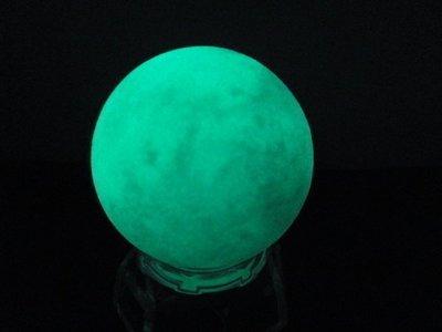 【競礦網】高級天然夜光球(夜明珠)160公克50mm(贈座)(親民價、便宜賣、限量10組)原價200元