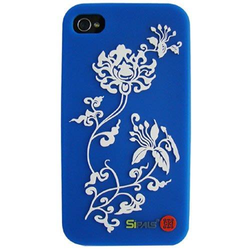青花紋 iPhone 4 手機保護套 (2款可選),矽膠材質手機套,故宮授權,立體浮凸紋飾觸感