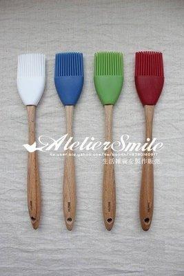 [ Atelier Smile ] 鄉村雜貨 歐洲進口櫸木 烘焙廚房專用 矽膠糕點刷 燒烤刷 大款 (特價)