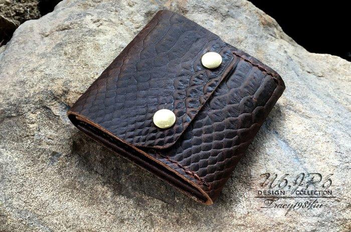 【U6.JP6 手工皮件】-純手工縫製進口牛皮天然手作皮革縫製 .零錢包 /卡片夾 /萬用皮包 / 名片夾