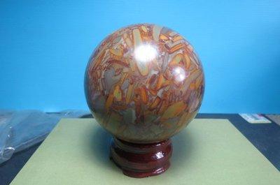 【競標網】天然漂亮A級貨女媧石球0.69kg80mm(贈座)(回饋價便宜賣)限量10組(賣完恢復原價500元)