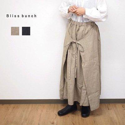 |The Dood Life|日本森系老牌 Bliss Bunch / 3way 裹身式圍裙 綁帶造型 色織亞麻裙 工作裙