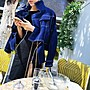 [ ohya梨花 ] =韓國帶回=最新春裝新款性感名媛帥氣芭比娃娃線條無扣開襟牛仔短版外套