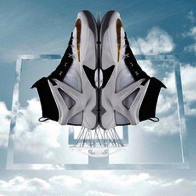 C/P值極高~頂級戶外實戰系列~NIKE LEBRON AMBASSADOR VIII 大使8代襪套籃球鞋~白黑金勾