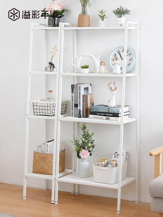廚房陽臺置物架書架現代簡約客廳整理收納架落地多層花架儲雜物架