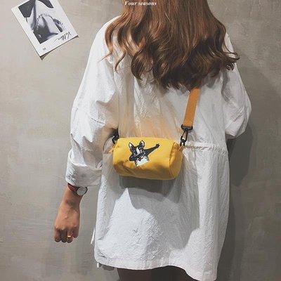少女迷你小挎包包2018 新款搞怪水桶包潮單肩斜挎honey蹦迪包斜背包