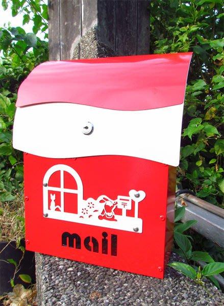 ☆成志金屬廠☆ 彩色鋁合金信箱(小)--有鎖--艷光紅經典款,可客製門牌。民宿家用皆宜