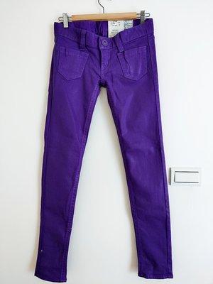 日本專櫃正品SLY全新日本製紫色低腰緊身鉛筆褲26 Vintage古著