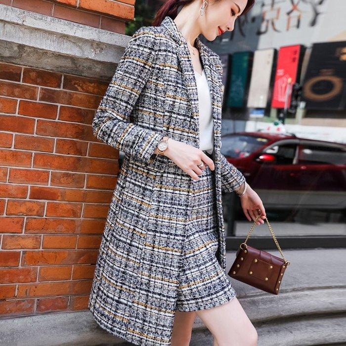 套裝 #20228 平滑無皺連身裙 拚色設計OL款