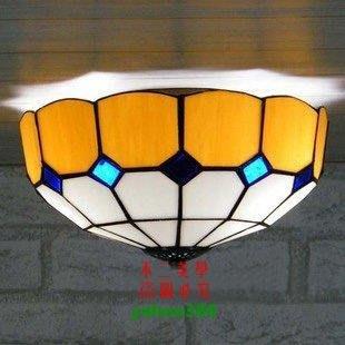 【美學】促銷歐美式蒂凡尼燈具地中海廚房浴室門廳吸頂燈(小號)MX_1772