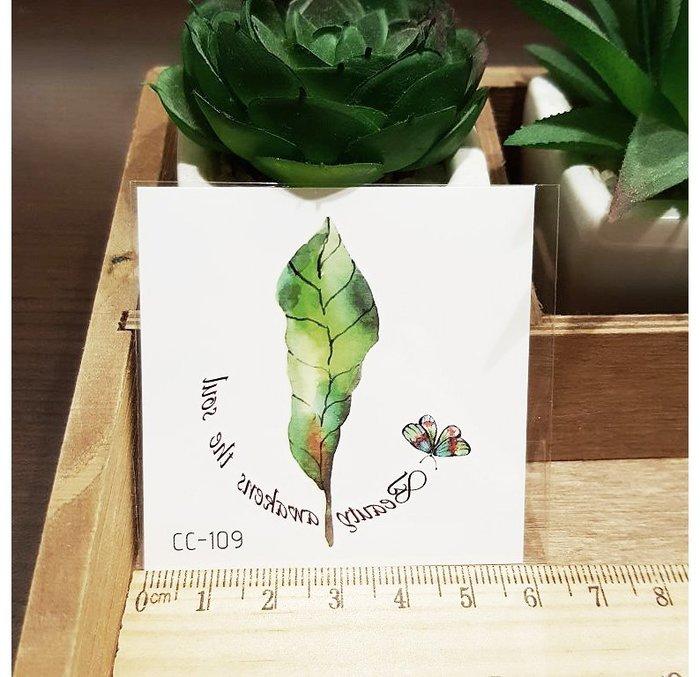 【萌古屋】花朵單圖CC-109 - 防水紋身貼紙刺青貼紙K38