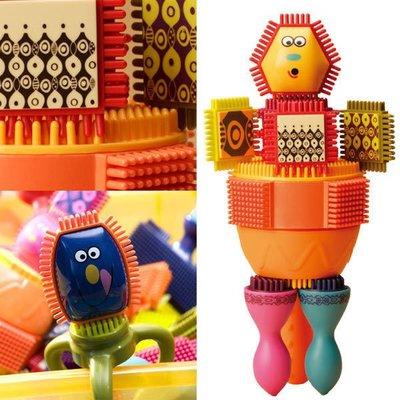 布萊斯特鬃毛積木 ~美國B.Toys感統玩具