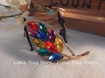 婚禮晚宴母親節禮物 切割水滴彩色鑽寶石...
