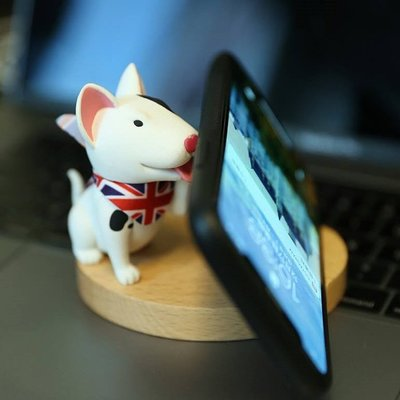 原木可愛狗狗手機座 / 名片座 【The Doggy Waiting for You】  (狗狗迷注意!!)
