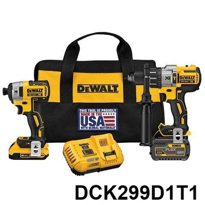美國原裝代購 DEWALT得偉 DCK299D1T1 雙鋰電 雙機組 DCF887 DCD996 MAX XR