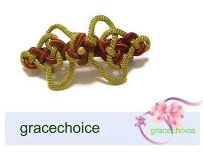風姿綽約--古典風髮夾(H017)~ 中國結編織的髮夾~純手工製作