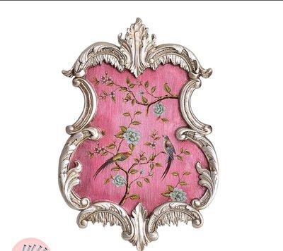 粉紅玫瑰精品屋~歐式復古牆面裝飾花盆花瓶壁掛~