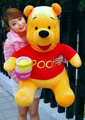 拉拉小站~小熊維尼超大娃娃~高約80cm~巨無霸小熊維尼~正版~最受歡迎玩偶