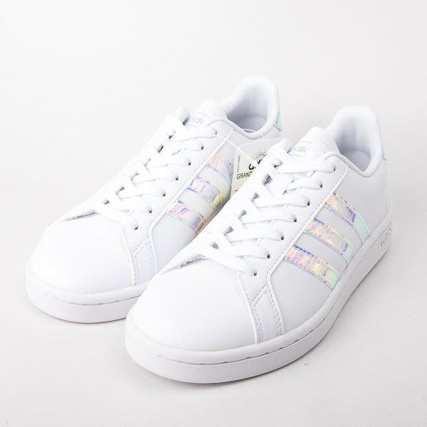 ADIDAS neo GRAND COURT  休閒鞋-白/銀 EE9689  現貨