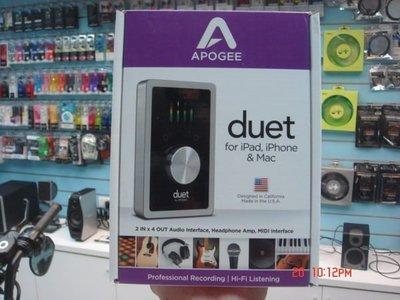禾豐音響 第三代新Duet 2 Apogee Duet 2 頂級錄音介面 支援iPhone/iPad/Mac 另RME