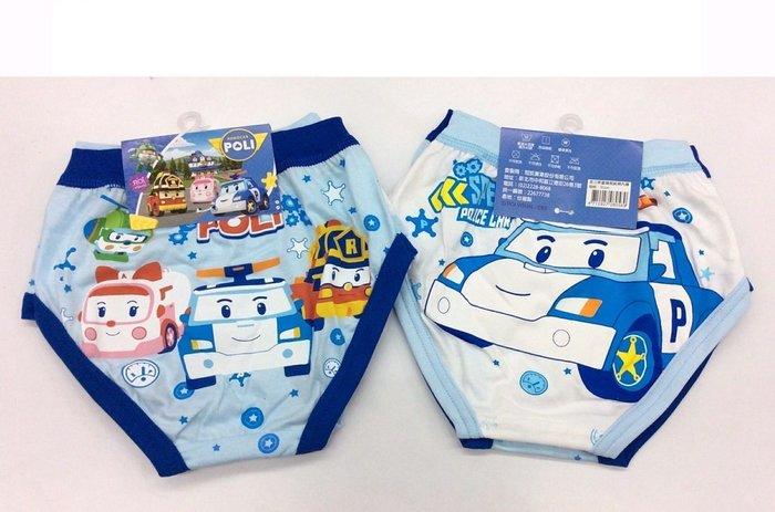 愛兒小舖~正版授權~台灣製~POLI男童精梳純棉內褲~豐原可面交