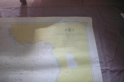 紫色小館90-DEPTHS IN METRES航海圖-SOUTH ATLANTIC OCEAN EASTERN PART