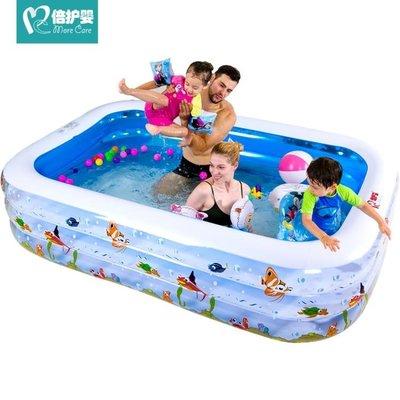倍護嬰兒童游泳池充氣家庭嬰兒成人家用寶寶加厚小孩超大號水池YS