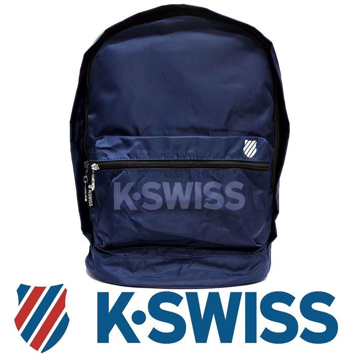 鞋大王K-SWISS BG030-(400藍色)、008(黑色) 30×18×42㎝運動後背包【特價出清,免運費】