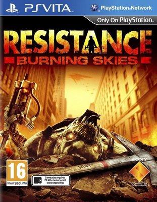 【二手遊戲】 PSV 全面對抗 燃燒天際 Resistance Burning Skies 中文版 【台中恐龍電玩】