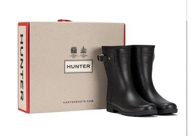 盒子破 Hunter 女短筒雨靴 Original Refined 122956  us8 uk6  好市多代購