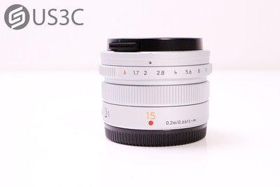 【US3C-台中店】公司貨 Panasonic LEICA DG 15mm F1.7 大光圈 二手鏡頭 M43 附B+W