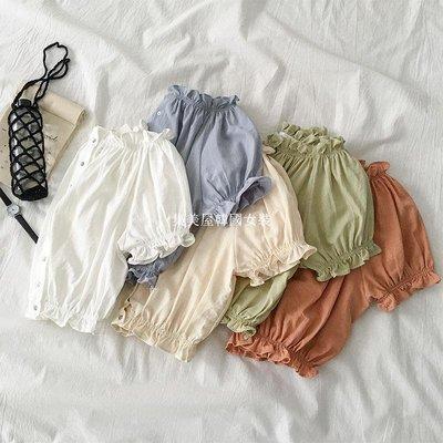 集美屋韓國女裝ins一字肩短款襯衣夏季2019新款女裝正韓木耳邊短袖襯衫上衣潮