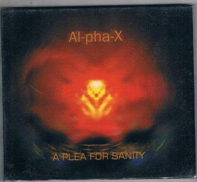 [鑫隆音樂]西洋CD-Al-pha-X : A Plea For Sanity {HN243CD} 全新/免競標