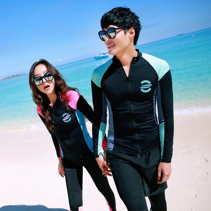 潛水服 分體水母衣服  男女速幹長袖遊泳衣  情侶裝 防曬衣衝浪服—莎芭