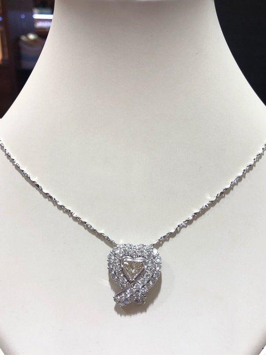 總重5.37克拉天然鑽石豪華項鍊,主鑽1.02克拉!超閃亮超豪華,出清特價商品,買墜台送1克拉主鑽
