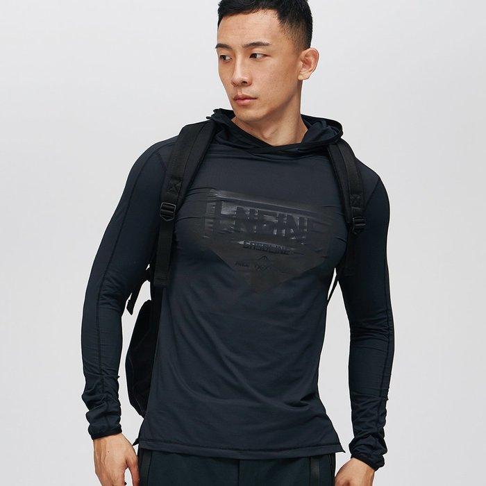 【OTOKO Men's Boutique】固制:反光連帽運動長袖/黑色 (台灣獨家代理) 原廠正品