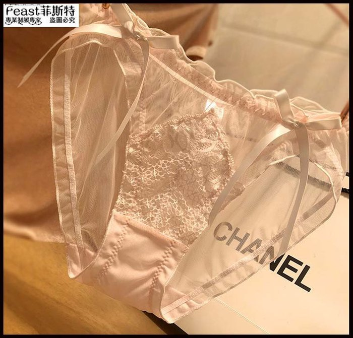 【Feast-菲斯特】-日系性感蕾絲少女內褲 誘惑透視舒適三角褲 可愛甜美蝴蝶結女士內褲AX30