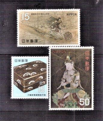 【珠璣園】J6807 日本郵票 - 1968年 平安時代國寶 3全