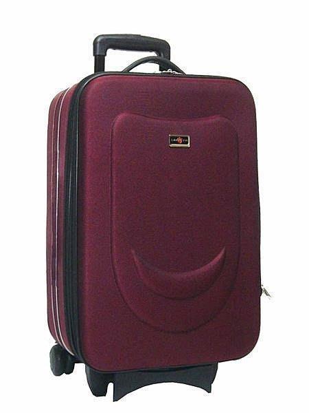 【葳爾登】精緻25吋旅行箱輕巧型拉桿行李箱,可加大容量登機箱羽量級航空箱/微笑25吋紅色