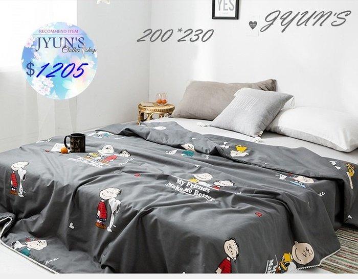 JYUN'S 新品可愛史努比SNOOPY卡通全棉夏被空調被夏涼被子雙人純棉兒童薄款薄被芯 1款 預購
