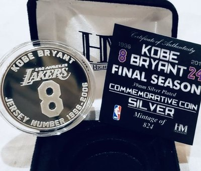 Kobe Bryant 紀念幣 Coin 全球限量824枚