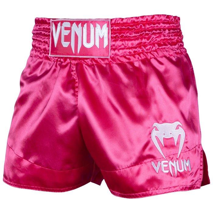 【TMMA台北格鬥運動館】VENUM 經典泰拳褲 - 粉紅/白 - EU-03813-533