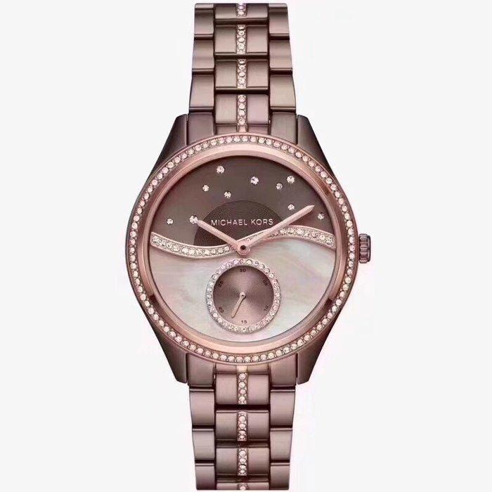 【Michael Kors代購館 】美國正品MK3757 專櫃新款鋼帶女錶 珍珠貝母鑲鑽 星空錶盤手錶 MK錶 MK手錶