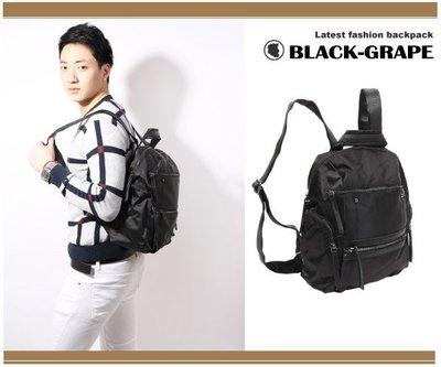 韓劇熱銷款-尼龍殼拼皮造型時尚後背包 【L8270】