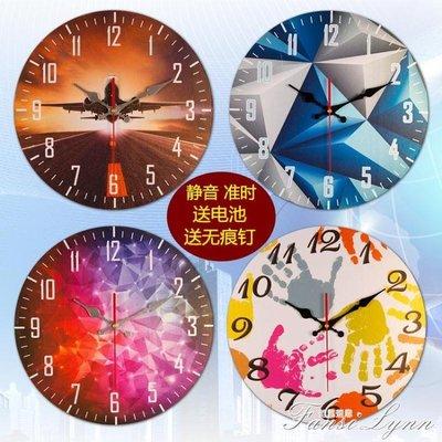 歐式復古鐘錶掛鐘客廳家用臥室簡約時鐘圓形創意靜音牆飾掛錶掛件 HM    全館免運