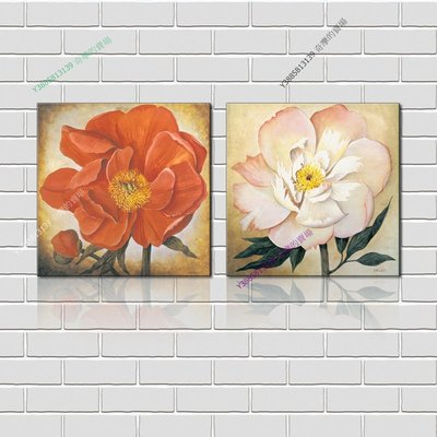 【40*40cm】【厚0.9cm】印象花卉-無框畫裝飾畫版畫客廳簡約家居餐廳臥室牆壁【280101_245】(1套價格)