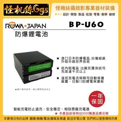 怪機絲 ROWA 樂華 BP-U60 副電 For SONY 攝影機 副廠電池 電池 BP-U30 U60 U30