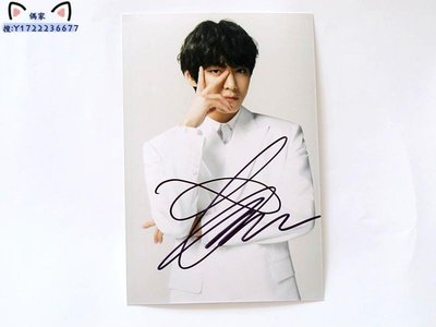 BTS防彈少年團 V金泰亨 親筆簽名照片 6寸 宣傳照 2020.3.13 02