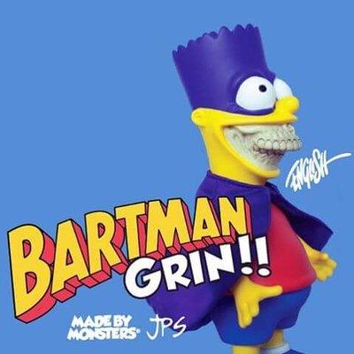 全新 Ron English x Made by Monsters x JPS 辛普森 霸子 Bartman Grin